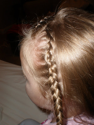 Girl hairdos ideas quadruple french braids i did a zig zag part then started about an inch down just inside out french braiding when you get to the bottom connect the two braids together ccuart Images