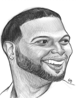 NBA Player Deron Williams Sketch Art Drawing