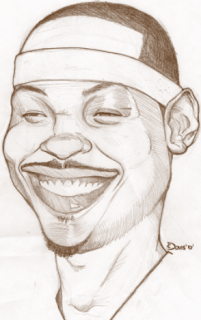 nba trade carmelo anthony married lala sister death drawing art caricature new york sketch