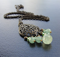 brass green aventurine necklace