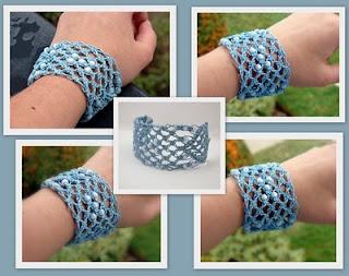 macrame hemp bracelet blue