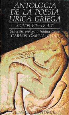 Antología de la Poesía Lírica Griega por Carlos García Gual