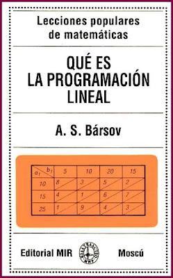 Qué es la Programación Lineal por A. S. Bársov