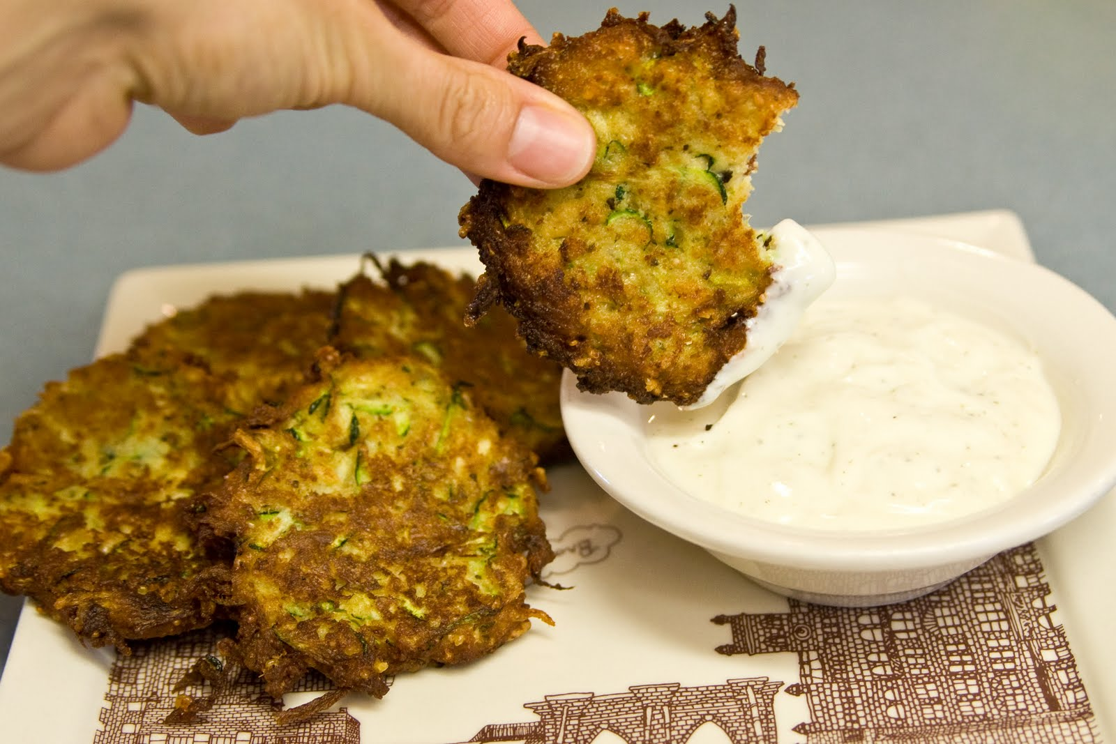 this yummy appetizer i just tried out tonight zucchini cakes