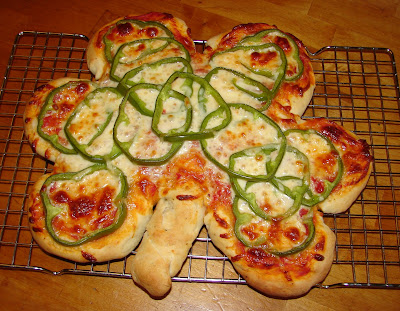 Nummy kitchen shamrock pizza for st patrick s day