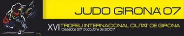 Logo de l'edició del 2007 del Ciutat de Girona de Judo