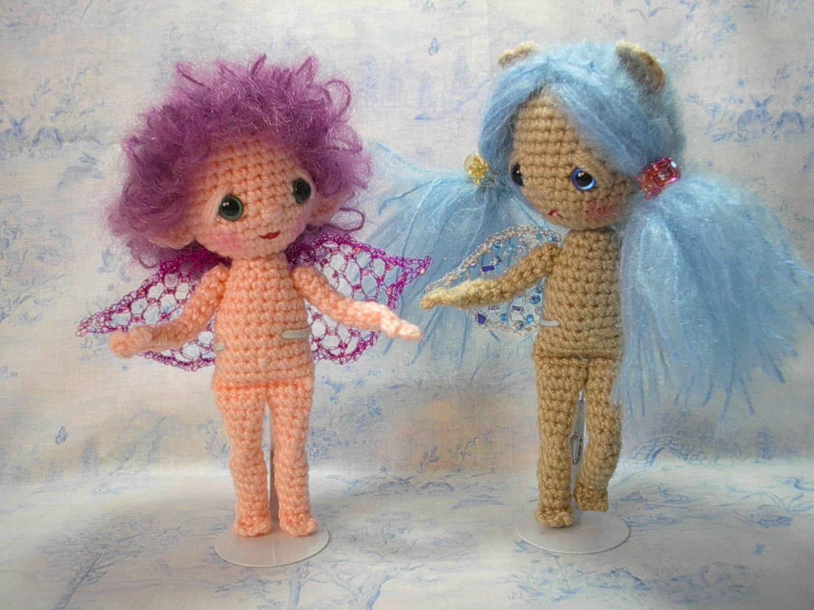 Free Amigurumi Head Pattern : By Hook, By Hand: Fairy Wings!