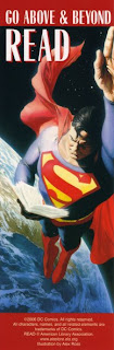 bookmark marcapáginas superman dc comics illustration by alex ross