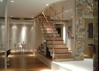 Contemporary Raw Stone and Wood House