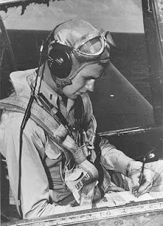 George Walker Bush in a B-29 Bomber