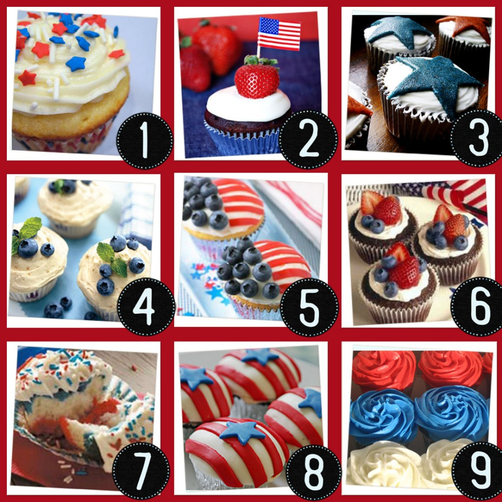 Cupcake Decorating Ideas For 4th Of July : Skinnie Piggie: 4th of July Cupcakes? Yes, please.