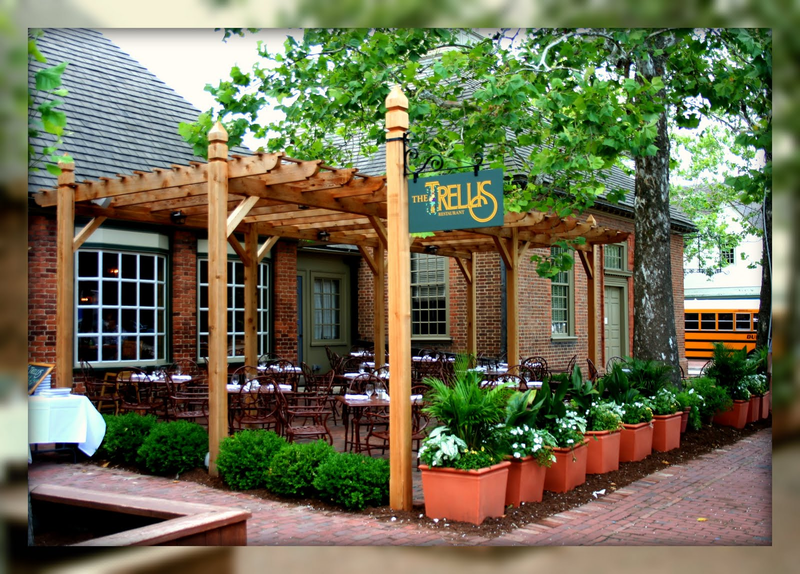 living in williamsburg virginia the trellis restaurant williamsburg virginia. Black Bedroom Furniture Sets. Home Design Ideas