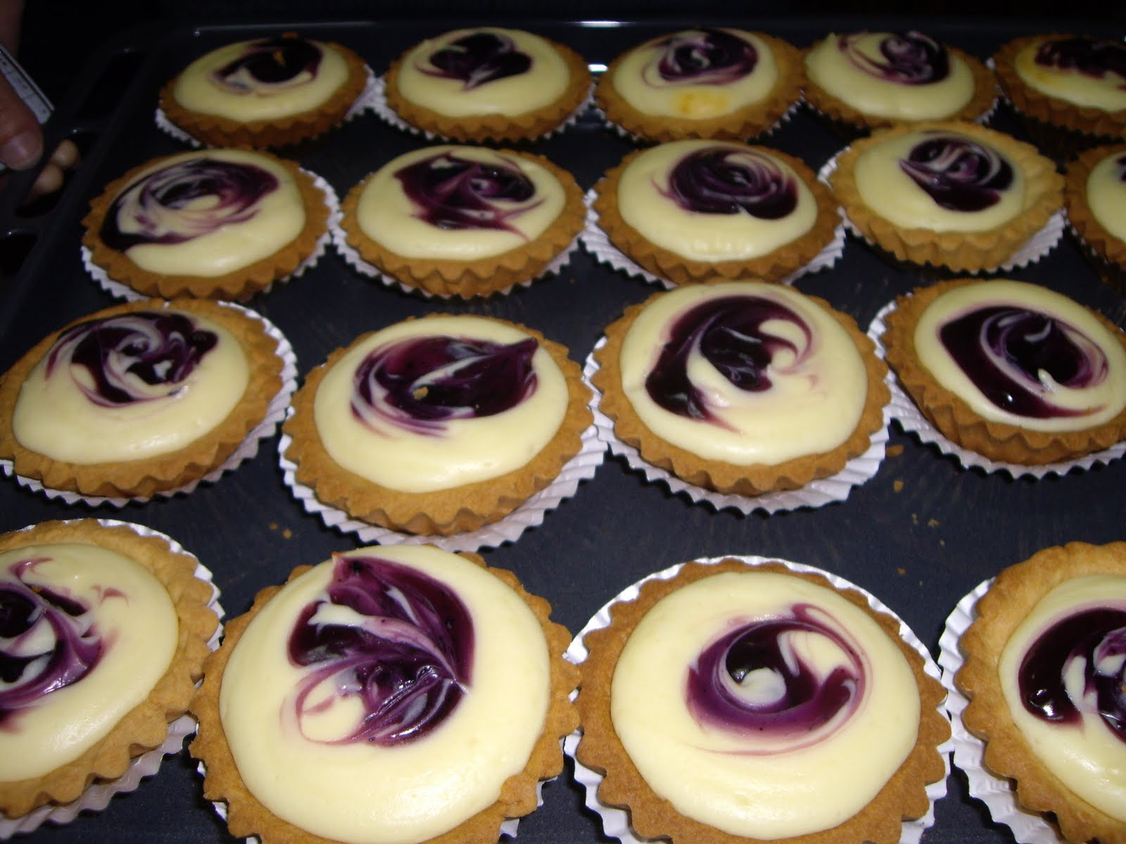 ... with passion: Blueberry Cheese Cake, Blueberry Cheese Tarts & Scones
