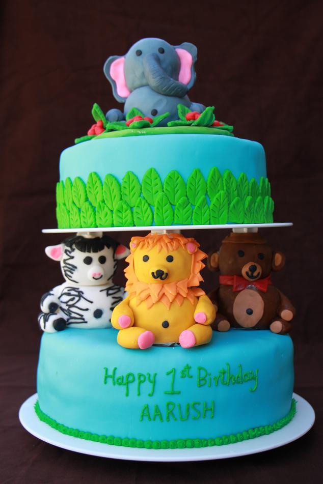 Dhanyas Delights Animal Themed Cake