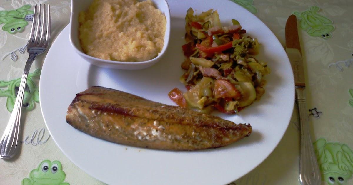 Le cresson gourmand filet de maquereau grill tian croquant d t et polenta la sauge - Cuisiner filet de maquereau ...