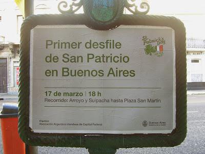 Primer desfile de San Patricio en Buenos Aires