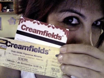 Yo y mi entrada a Creamfields 2009