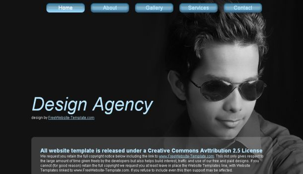 Portfolio Black Blue Website Template