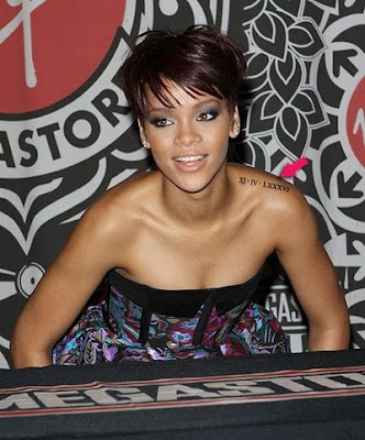 rihanna tattoos meanings. Rihanna Tattooing Lessons