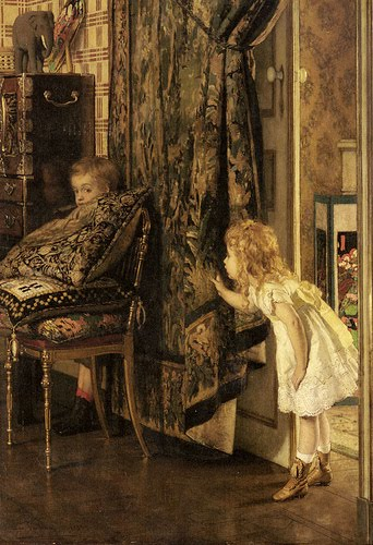 JAN VERHAS ( 1834-1896) HideandSeekVerhas
