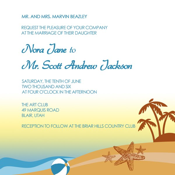 42 Beautiful Beach Wedding Invitations Showcase for Your Beach Wedding