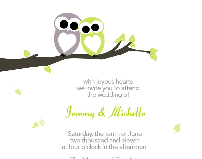 Owls Invitations as great invitations example