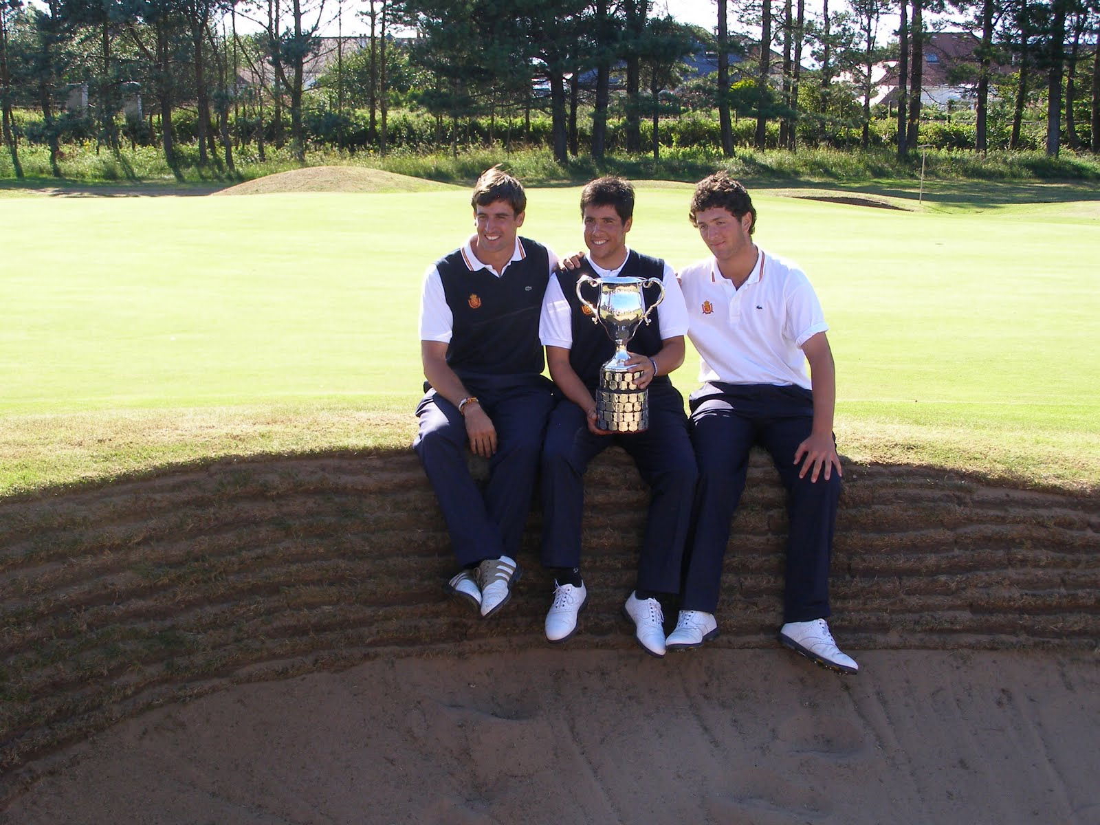 With his coach and his caddy, Adrian can bask in the glorious weather and ...