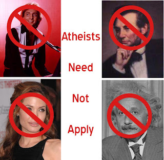 Atheists Need Not Apply poster