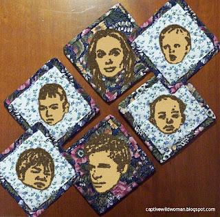 Handmade Brangelina Coasters