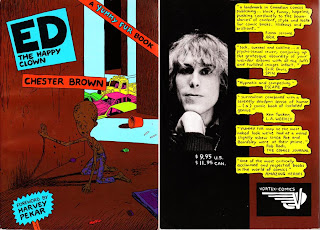 Ed The Happy Clown by Chester Brown - front & back covers