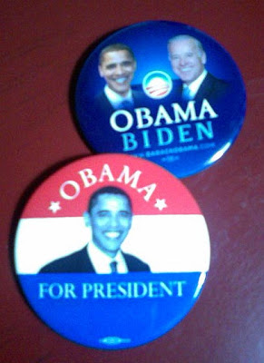 Heirloom collection Obama buttons