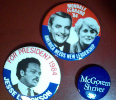 Past Demo political buttons