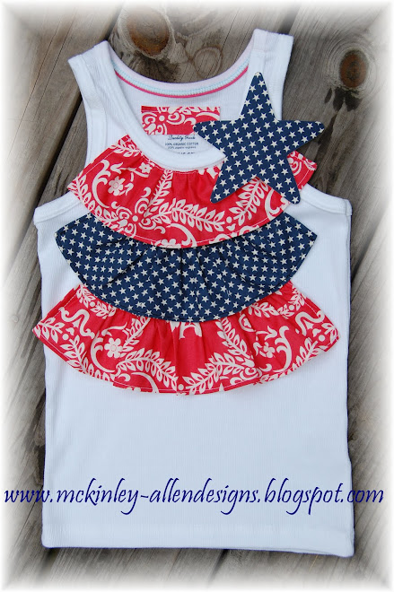 Patriotic Tank with Removable Star Pin $35