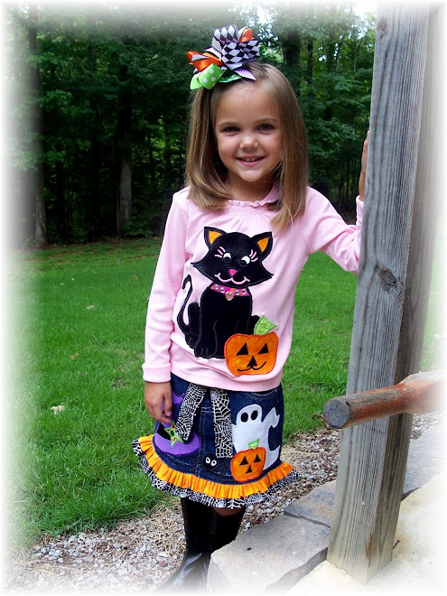 Halloween Kitty Skirt Set $105