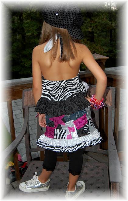 Back View of ROCKSTAR Skirt Set