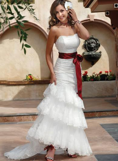 belted wedding dresses is our choice of the month