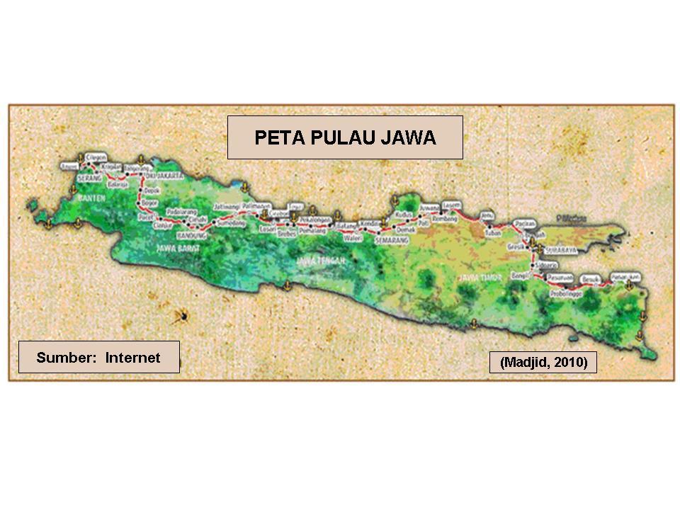 Dasar Ilmu Tanah Peta Pulau Jawa Indonesia Warna Gambar