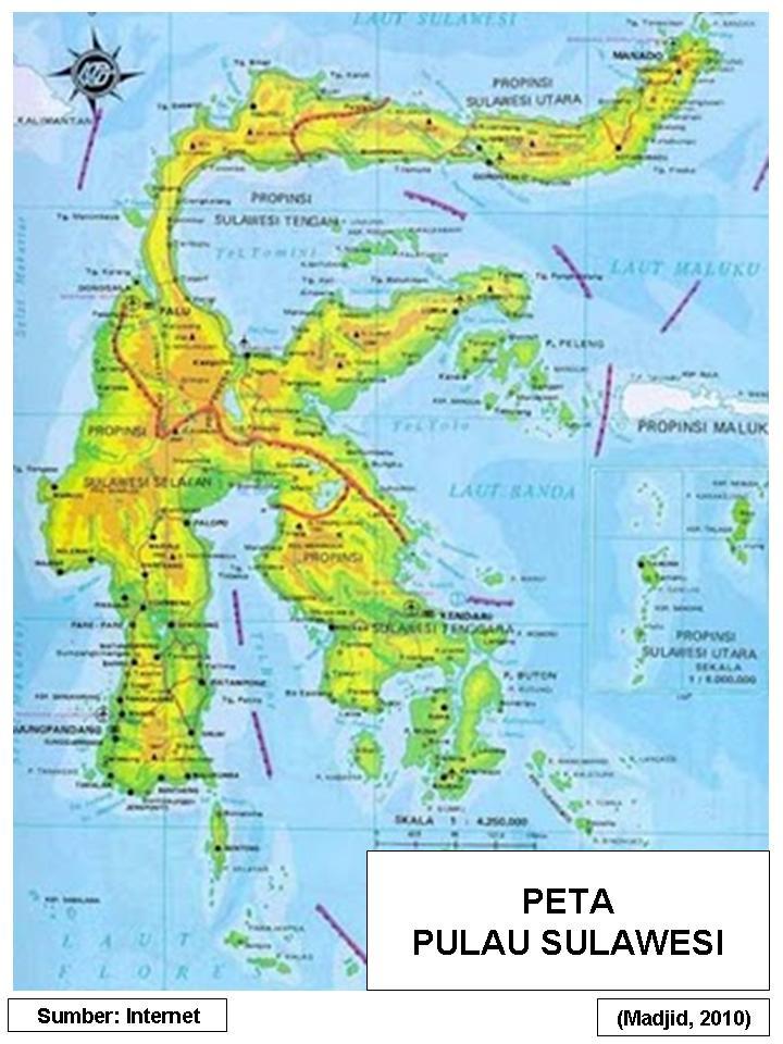 PETA DIGITAL: Peta Pulau Sulawesi 02