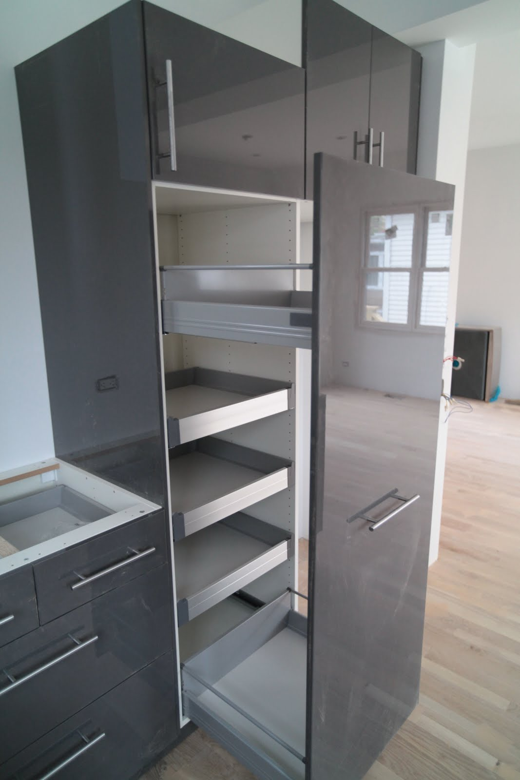 Kitchen pantry cabinet ikea - Pull Out Pantry Cabinet Ikea With Glutton For Punishment Kitchen Cabinets And Garage Foundations With