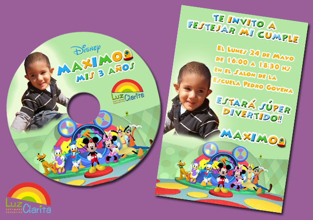 ... Software Educativo: La Casa de Mickey Mouse para el cumple de Maximo
