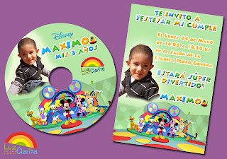 Software Educativo: La Casa de Mickey Mouse para el cumple de Maximo