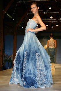 Blue_long wedding dress