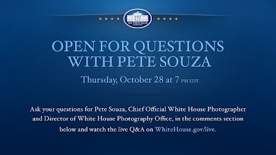 Pete Souza, White House Photographer, Obama photos, Diana Topan, Photography News, Michelle Obama, Barack Obama, live chat, chat with Pete Souza, photo news, obama photographer interview