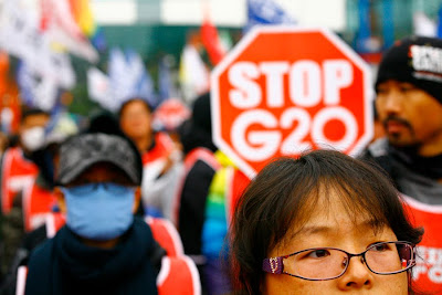 Jeffrey Bright, G20 Protests Seoul, photojournalism, G20, Photography News, protest photos