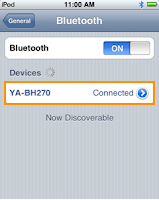iPod Touch Bluetooth