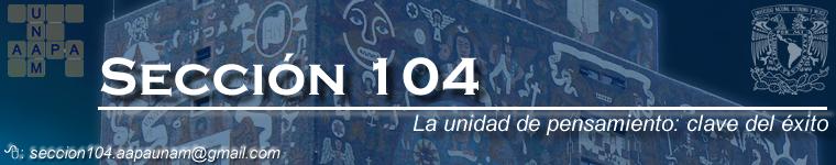 Sección 104 de la AAPAUNAM