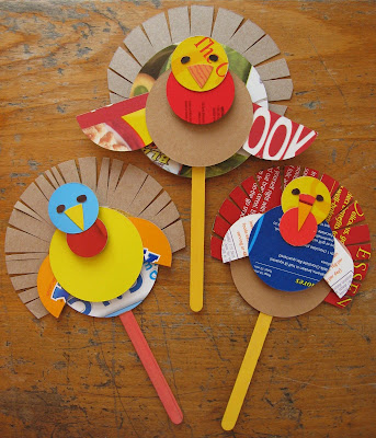 Thanksgiving cereal box turkey puppet craft preschool for Thanksgiving craft ideas for kindergarten