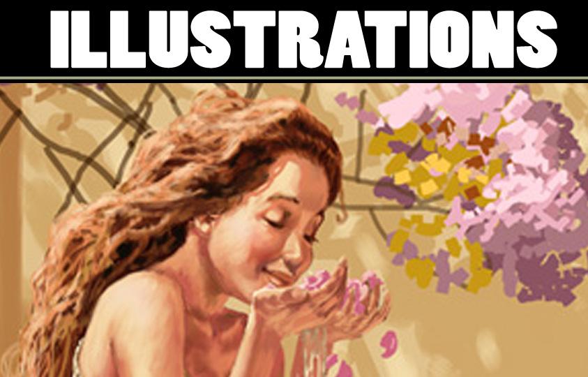 Illustrations couleur et roughs