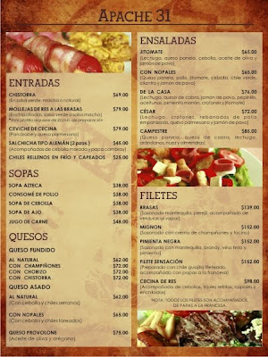 La Fortuna Restaurant Menu