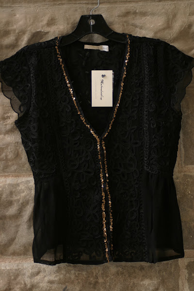Black Soutache Top